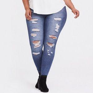 Torrid Distressed Bombshell Skinny Jeans